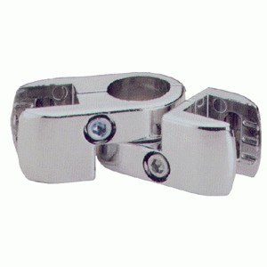 Крепёж для панели ЛДСП двойной, поворотный. (без вкладышей)  Jok 78 (R-52)